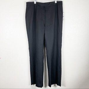 NWT Le Suit Black Women's Trouser Pant Size 12